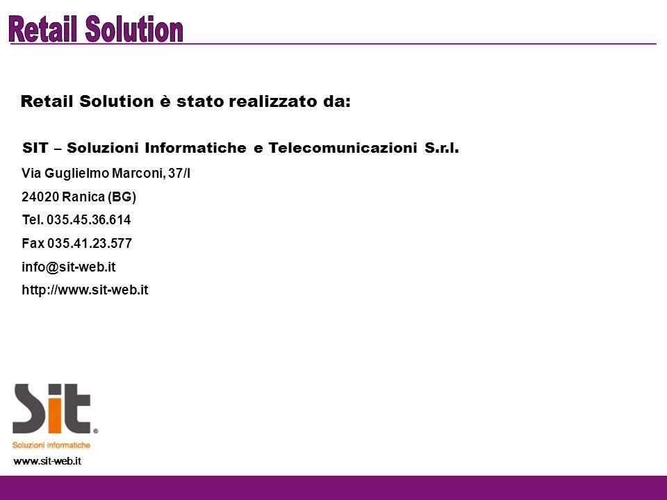 Retail Solution Retail Solution è stato realizzato da: