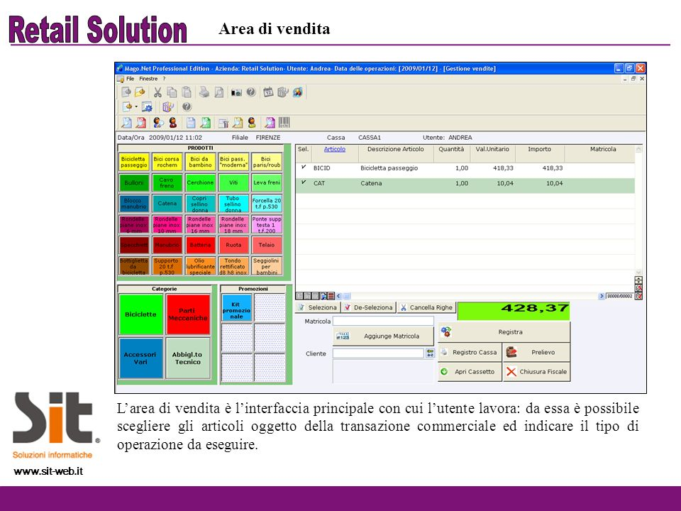 Retail Solution Area di vendita