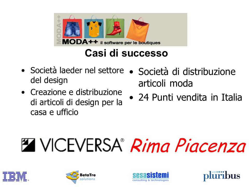 Rima Piacenza Casi di successo Società di distribuzione articoli moda