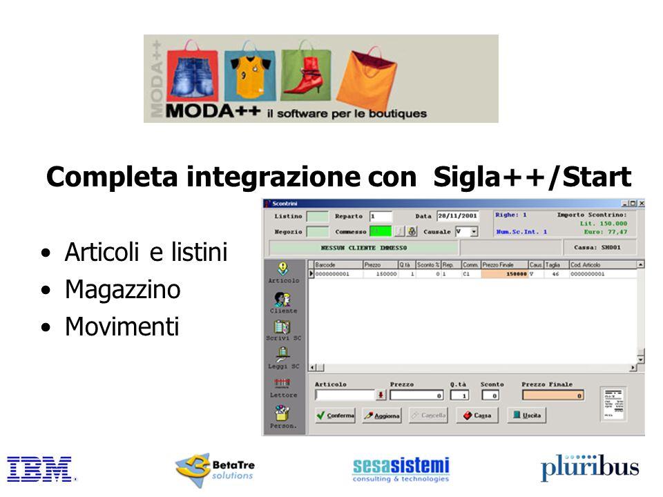 Completa integrazione con Sigla++/Start