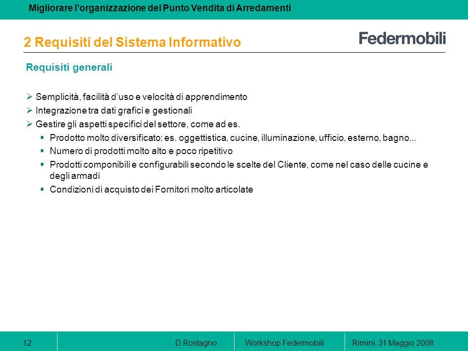 2 Requisiti del Sistema Informativo