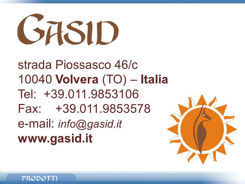 strada Piossasco 46/c 10040 Volvera (TO) – Italia Tel: +39.011.9853106