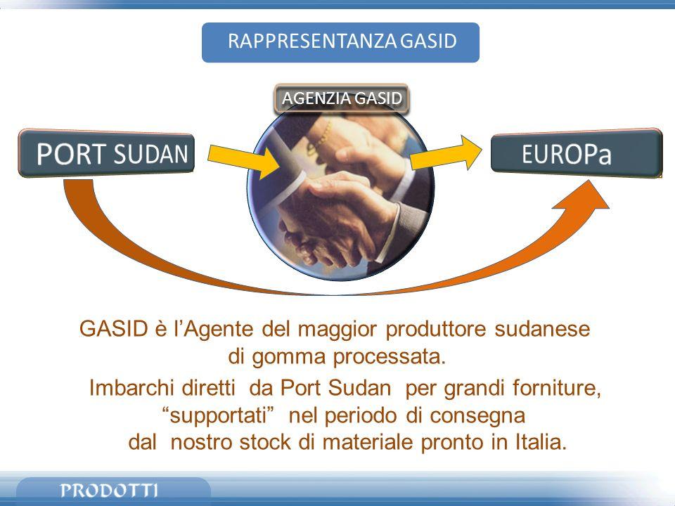 PORT SUDAN EUROPa RAPPRESENTANZA GASID