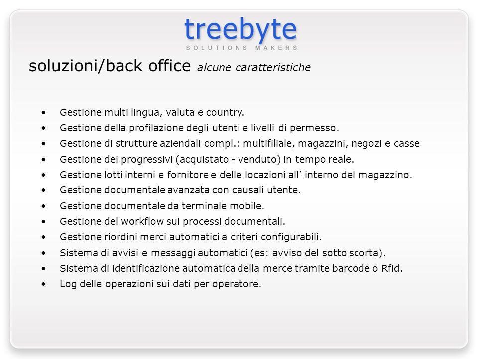 soluzioni/back office alcune caratteristiche