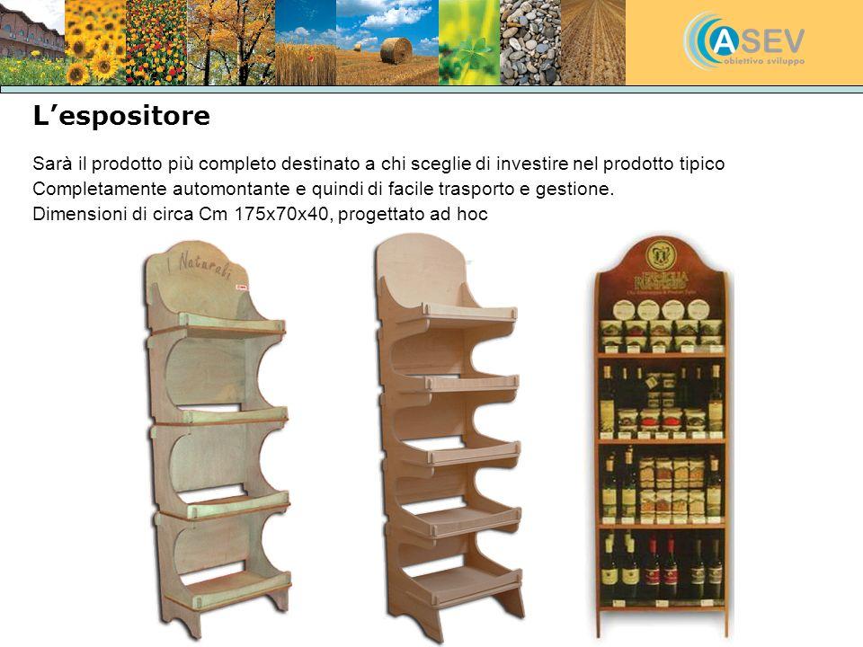 L'espositore Sarà il prodotto più completo destinato a chi sceglie di investire nel prodotto tipico.