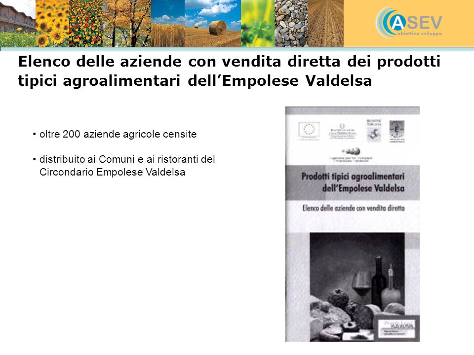 Elenco delle aziende con vendita diretta dei prodotti tipici agroalimentari dell'Empolese Valdelsa