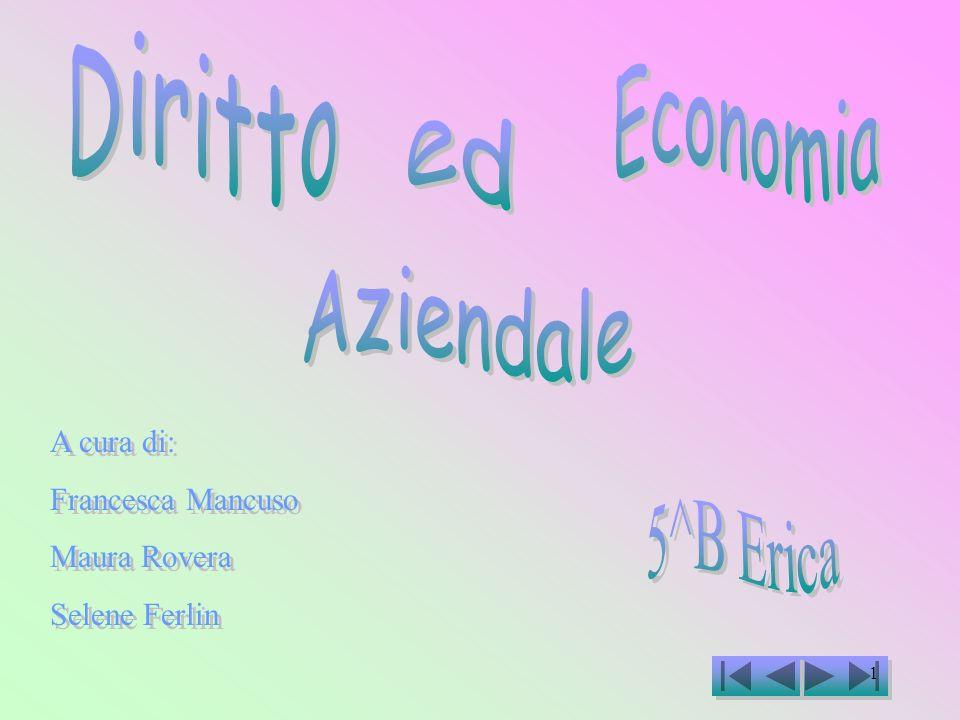 Diritto Economia ed Aziendale 5^B Erica A cura di: Francesca Mancuso