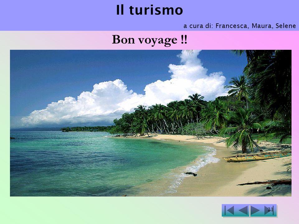 Il turismo a cura di: Francesca, Maura, Selene Bon voyage !!