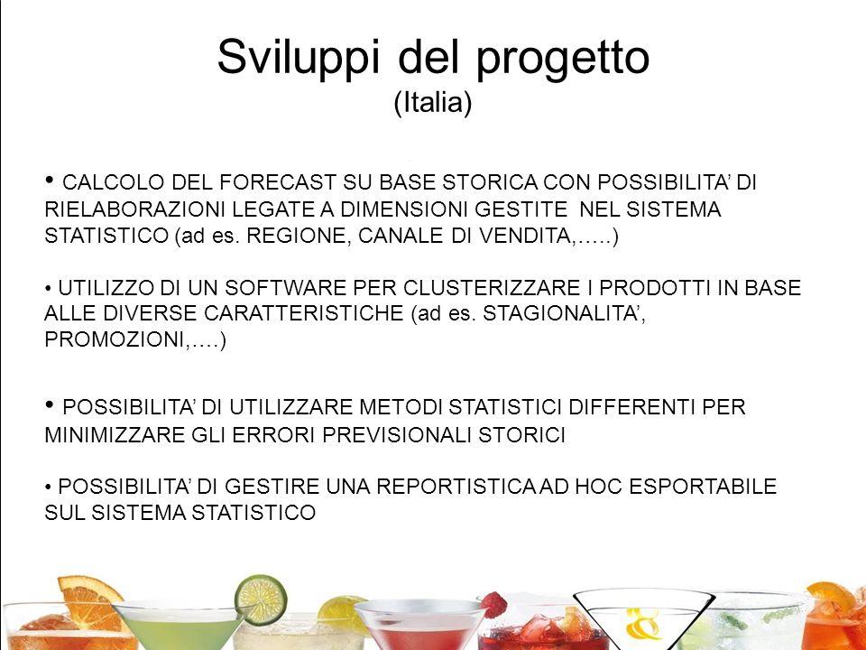 Sviluppi del progetto (Italia)