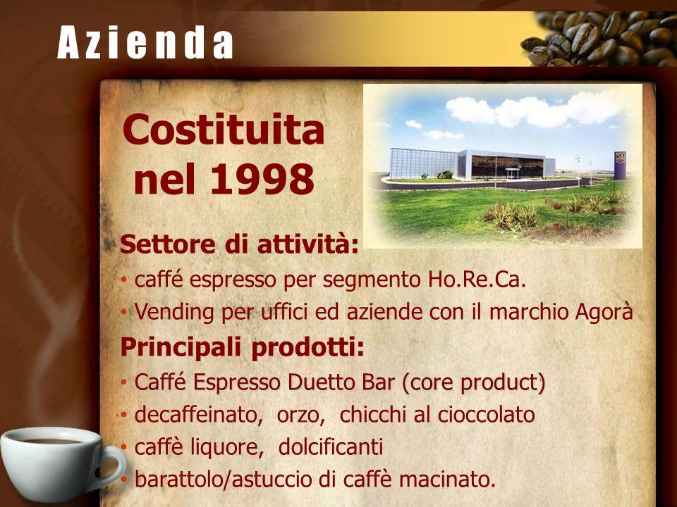 A z i e n d a Costituita nel 1998 Settore di attività: