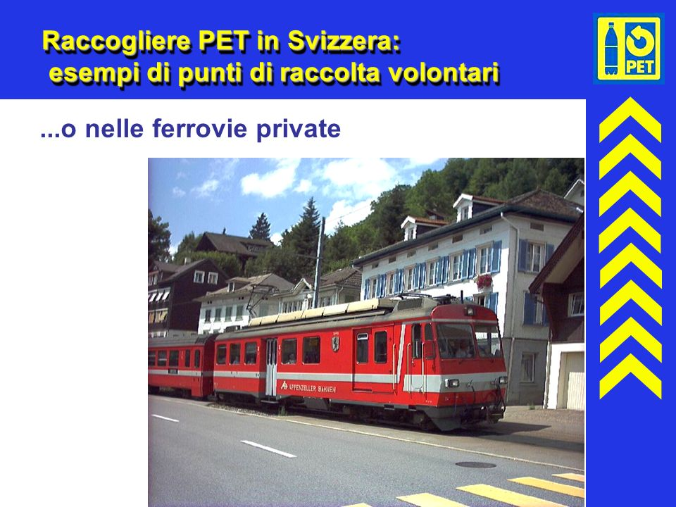 Raccogliere PET in Svizzera: esempi di punti di raccolta volontari
