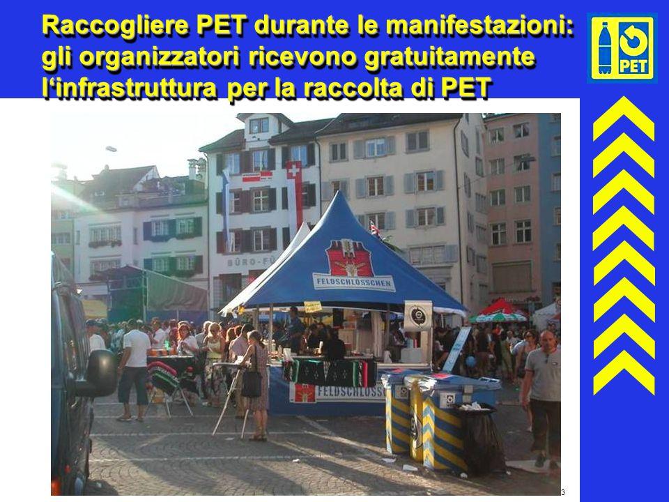 Raccogliere PET durante le manifestazioni: gli organizzatori ricevono gratuitamente l'infrastruttura per la raccolta di PET