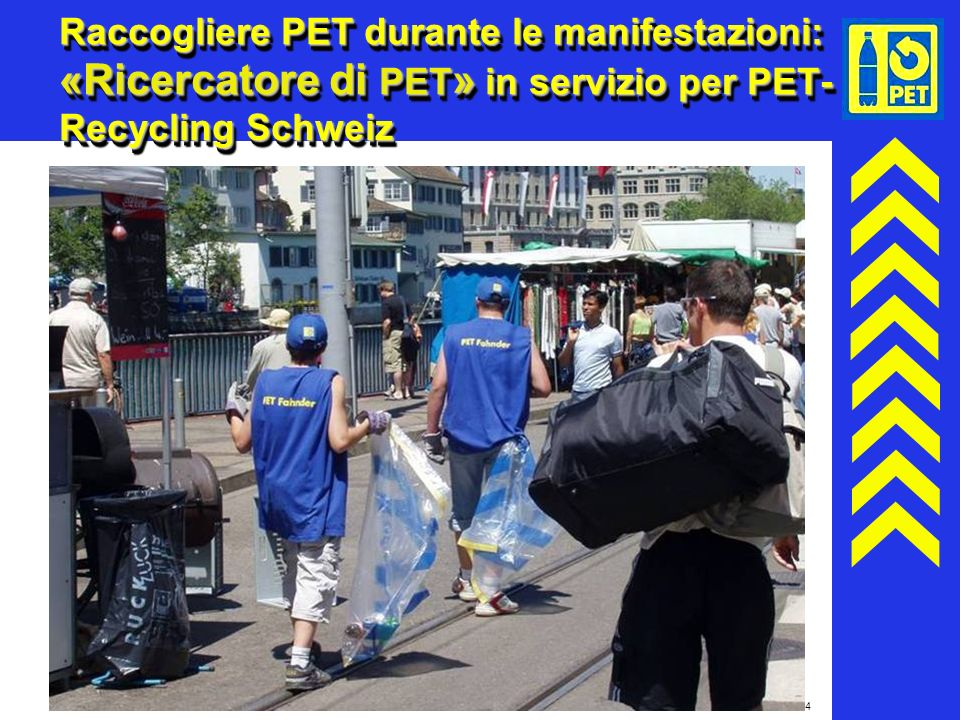 Raccogliere PET durante le manifestazioni: «Ricercatore di PET» in servizio per PET-Recycling Schweiz