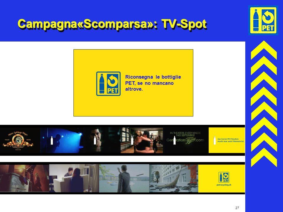 Campagna«Scomparsa»: TV-Spot