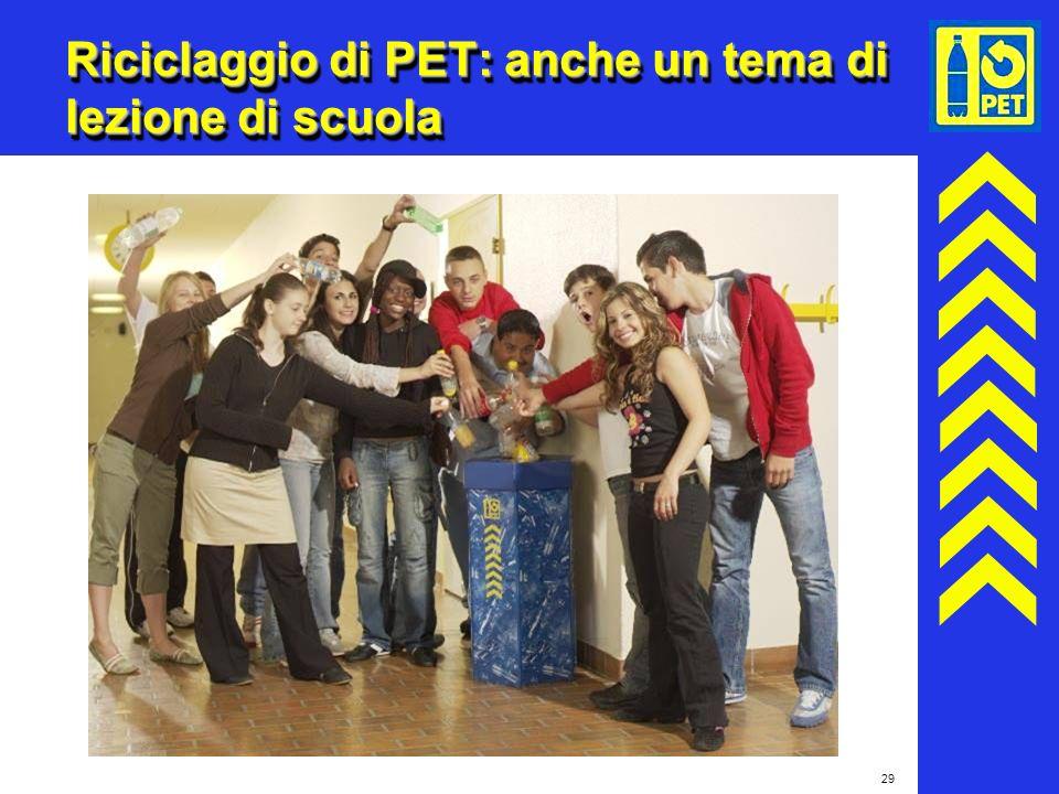 Riciclaggio di PET: anche un tema di lezione di scuola