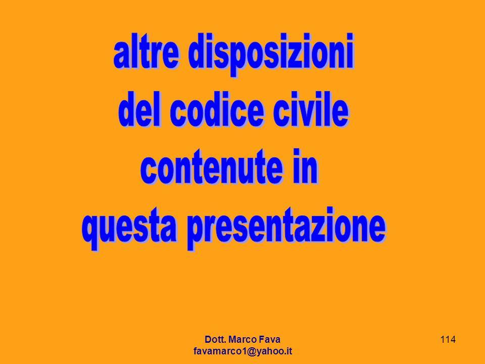 altre disposizioni del codice civile contenute in questa presentazione