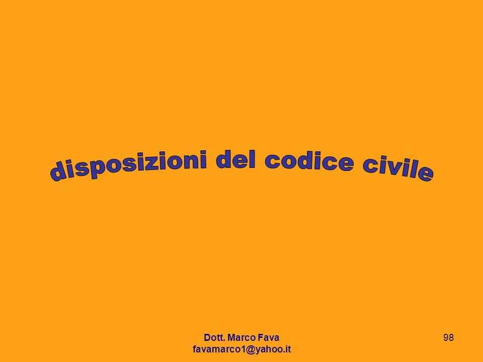 disposizioni del codice civile