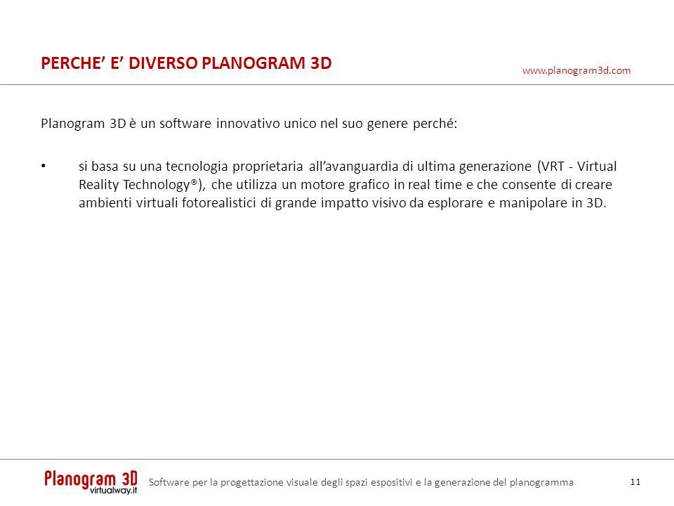 PERCHE' E' DIVERSO PLANOGRAM 3D