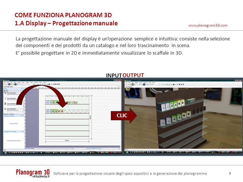 COME FUNZIONA PLANOGRAM 3D 1.A Display – Progettazione manuale