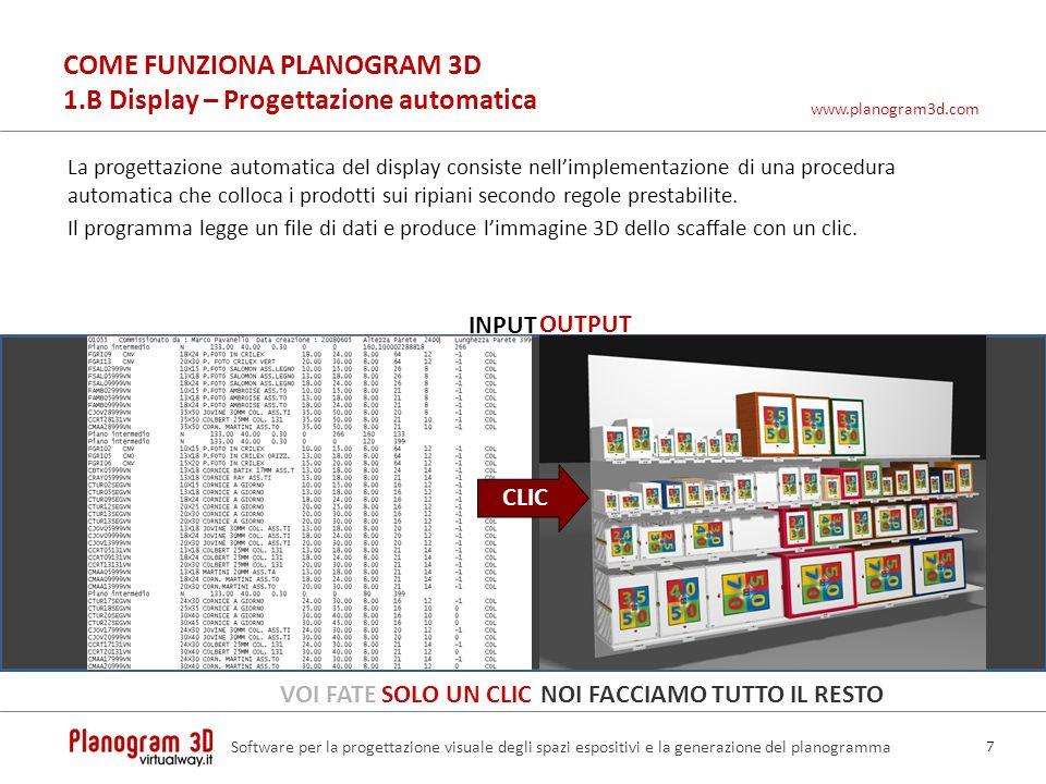 COME FUNZIONA PLANOGRAM 3D 1.B Display – Progettazione automatica
