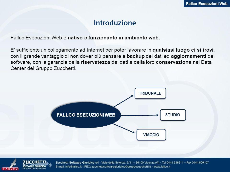Fallco Esecuzioni Web Introduzione. Fallco Esecuzioni Web è nativo e funzionante in ambiente web.