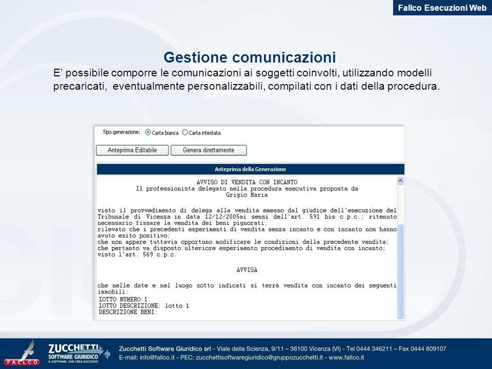 Gestione comunicazioni