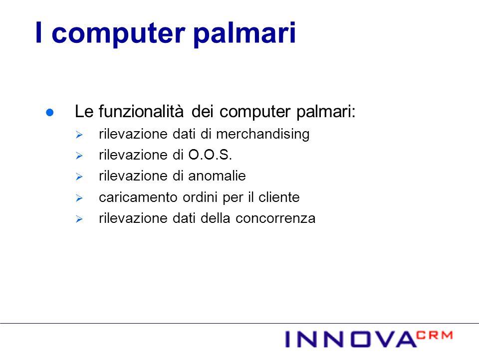 I computer palmari Le funzionalità dei computer palmari: