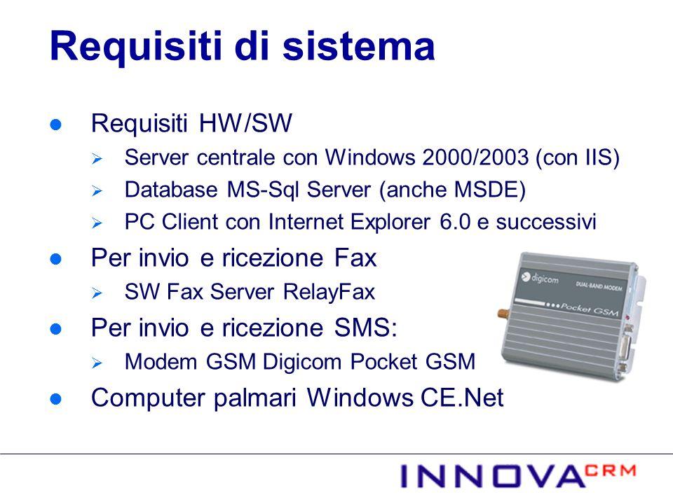 Requisiti di sistema Requisiti HW/SW Per invio e ricezione Fax