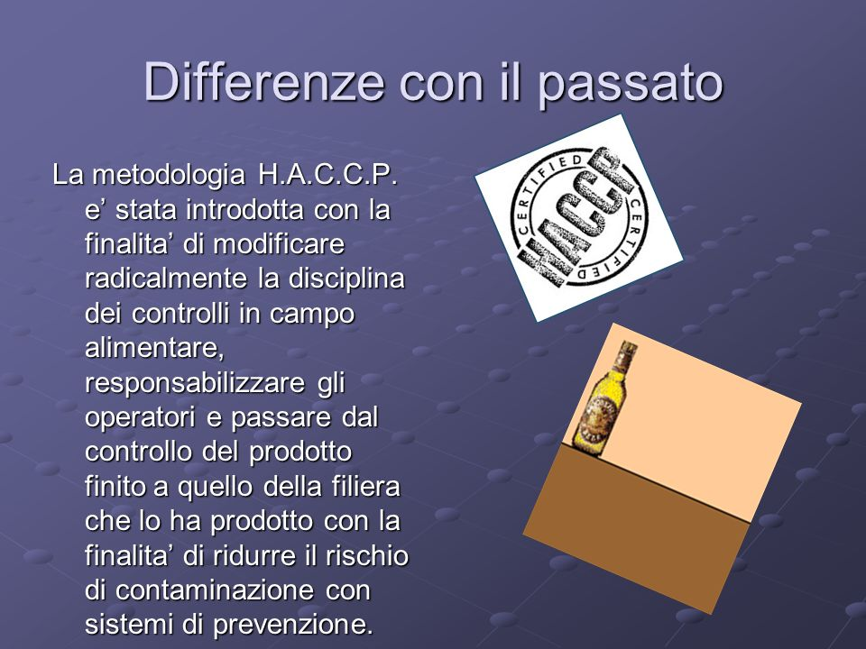Differenze con il passato