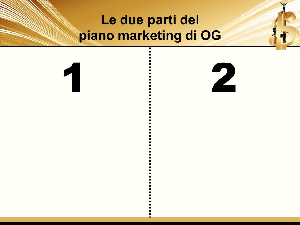 Le due parti del piano marketing di OG 1 2