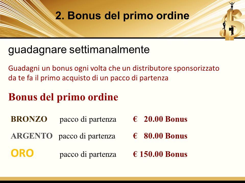 ORO pacco di partenza € 150.00 Bonus