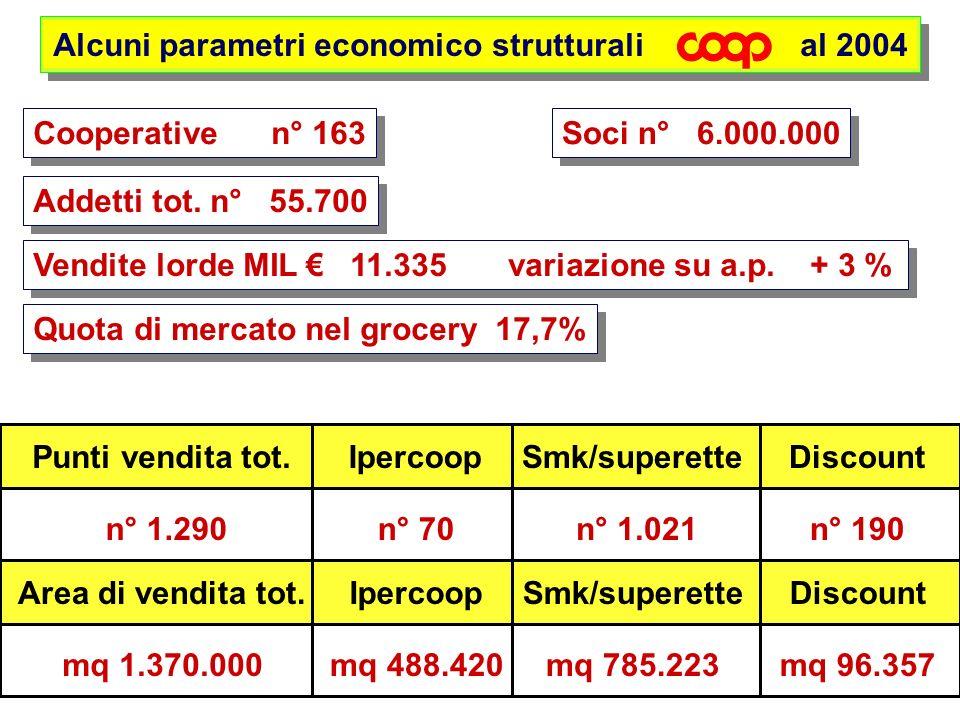 Alcuni parametri economico strutturali al 2004