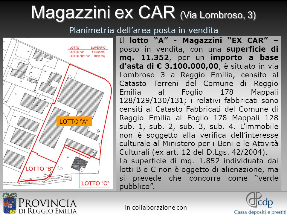 Magazzini ex CAR (Via Lombroso, 3)