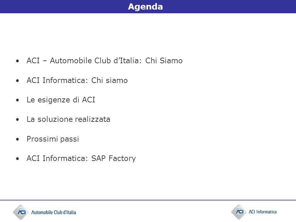 Agenda ACI – Automobile Club d'Italia: Chi Siamo