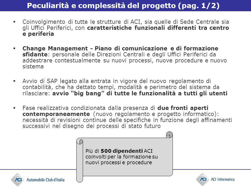 Peculiarità e complessità del progetto (pag. 1/2)