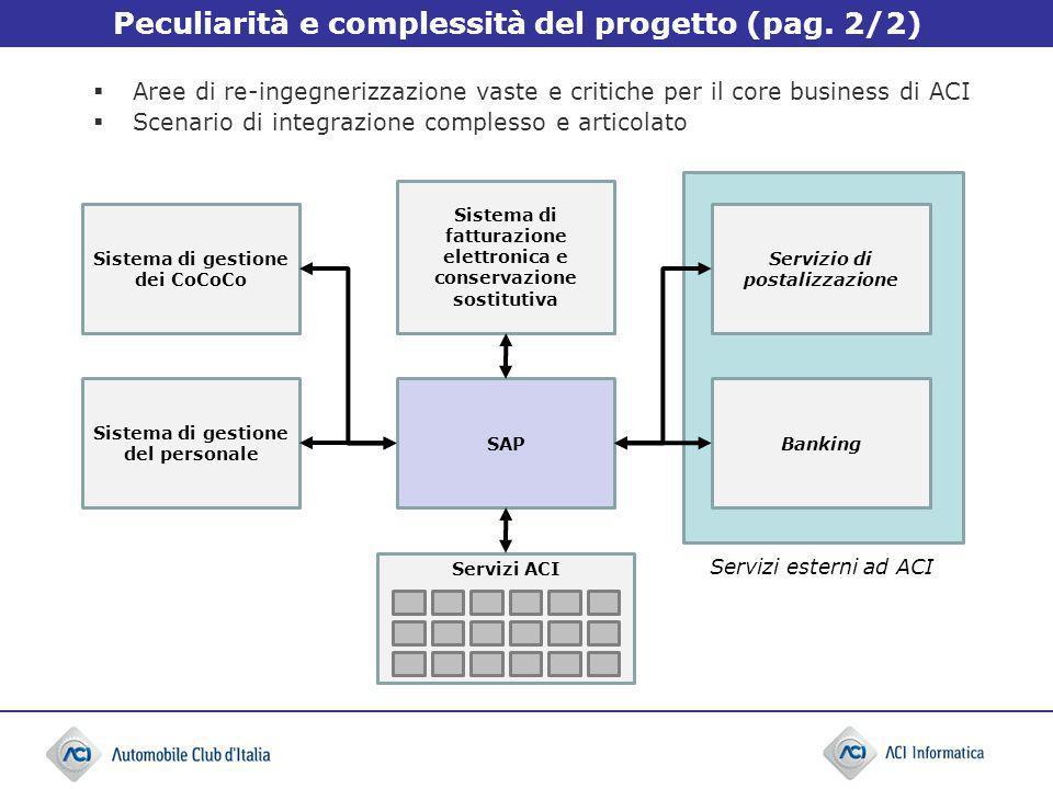 Peculiarità e complessità del progetto (pag. 2/2)