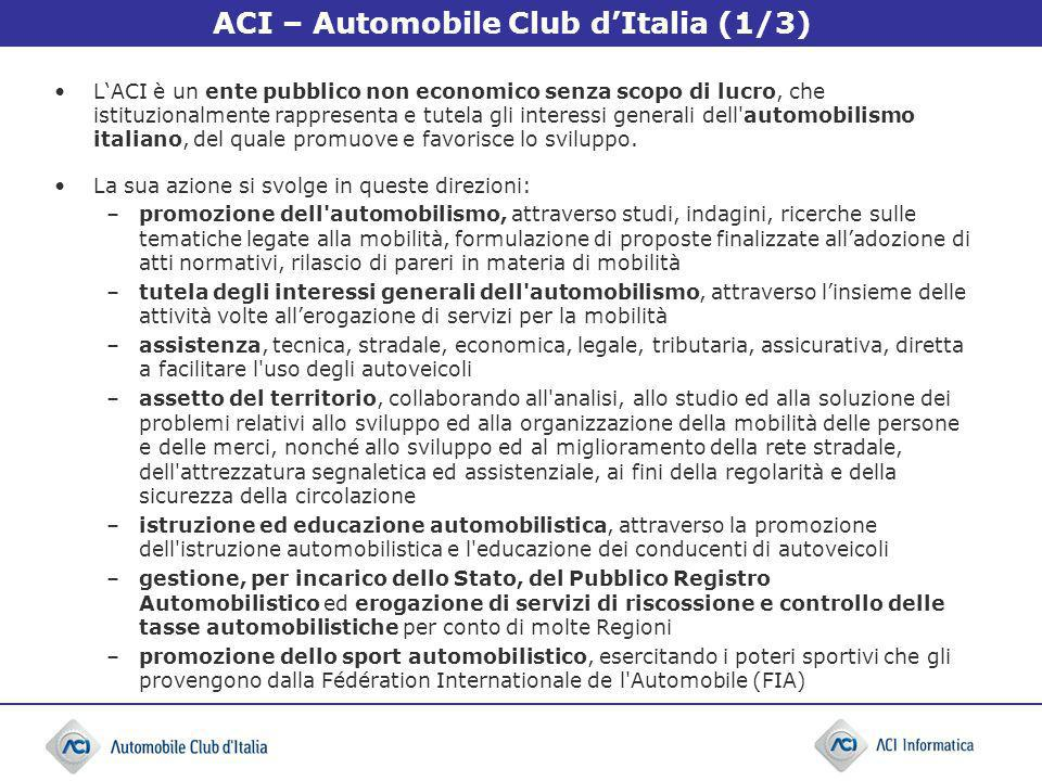 ACI – Automobile Club d'Italia (1/3)