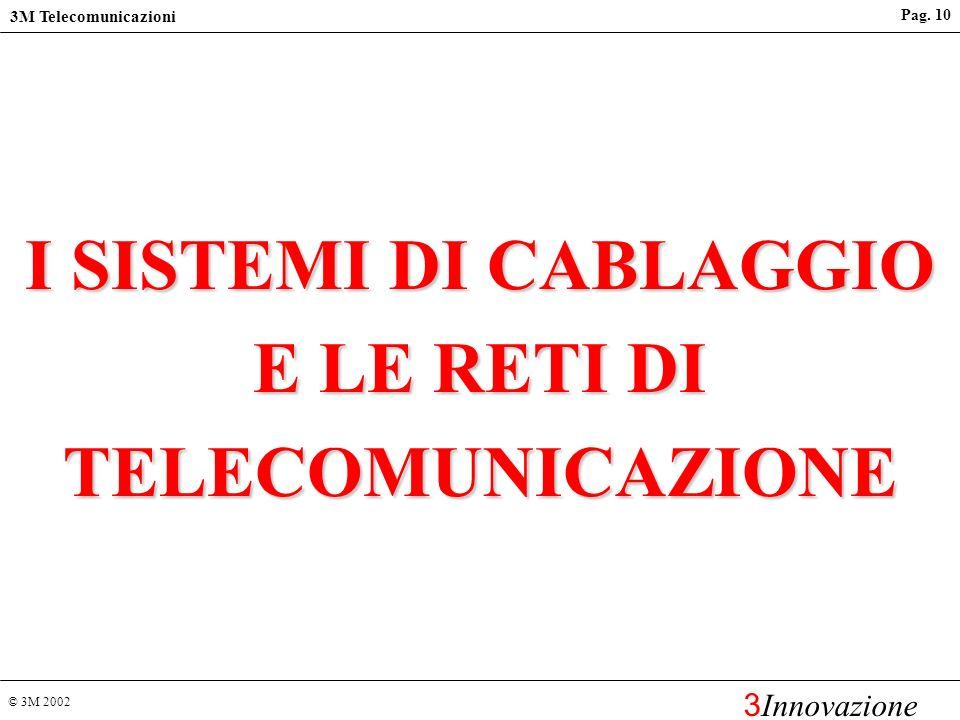 I SISTEMI DI CABLAGGIO E LE RETI DI TELECOMUNICAZIONE