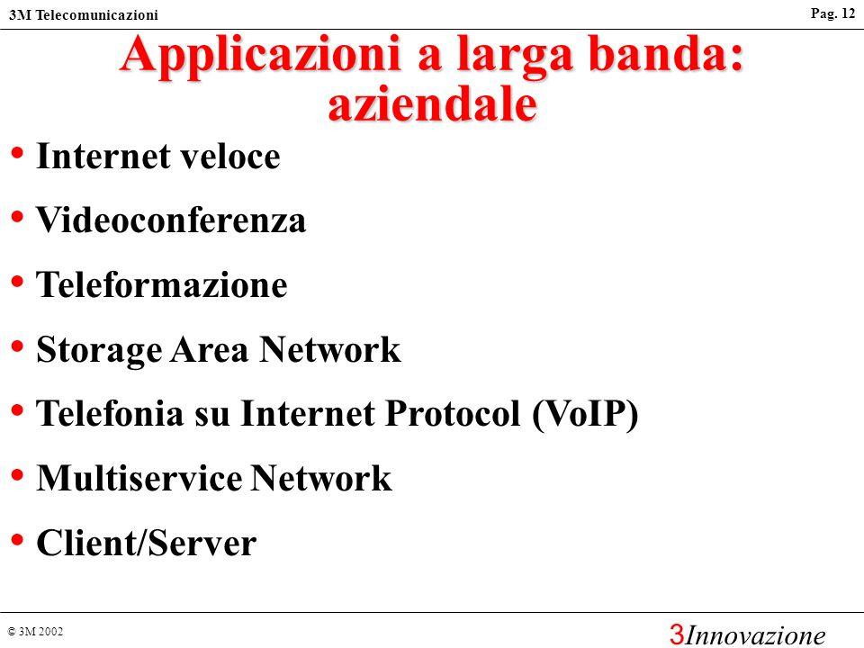 Applicazioni a larga banda: aziendale