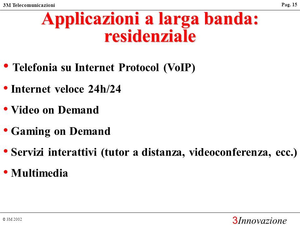 Applicazioni a larga banda: residenziale