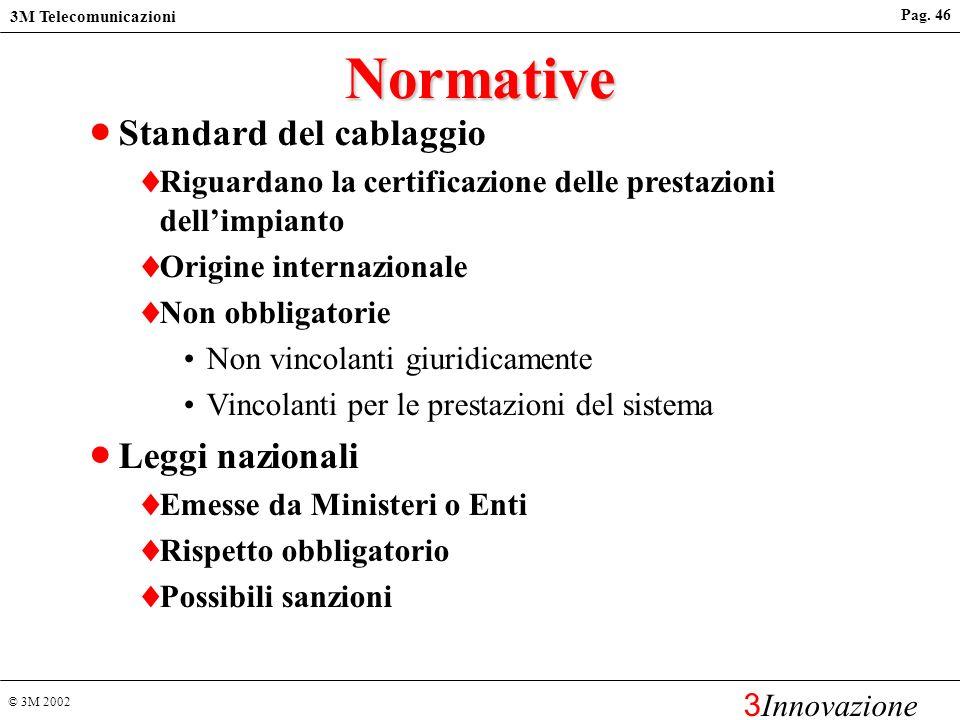 Normative Standard del cablaggio Leggi nazionali