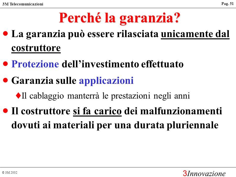 Perché la garanzia La garanzia può essere rilasciata unicamente dal costruttore. Protezione dell'investimento effettuato.