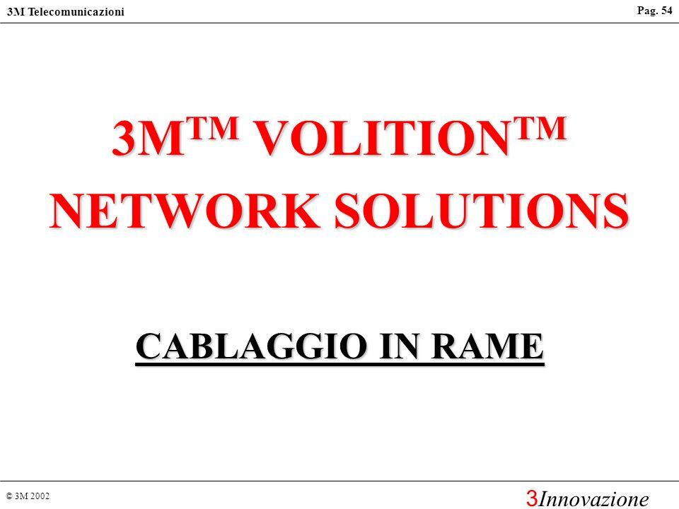 3MTM VOLITIONTM NETWORK SOLUTIONS