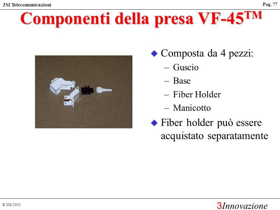 Componenti della presa VF-45TM