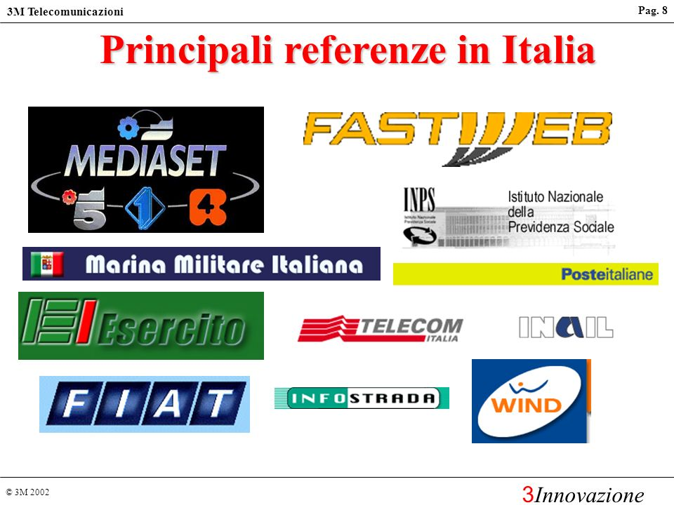 Principali referenze in Italia