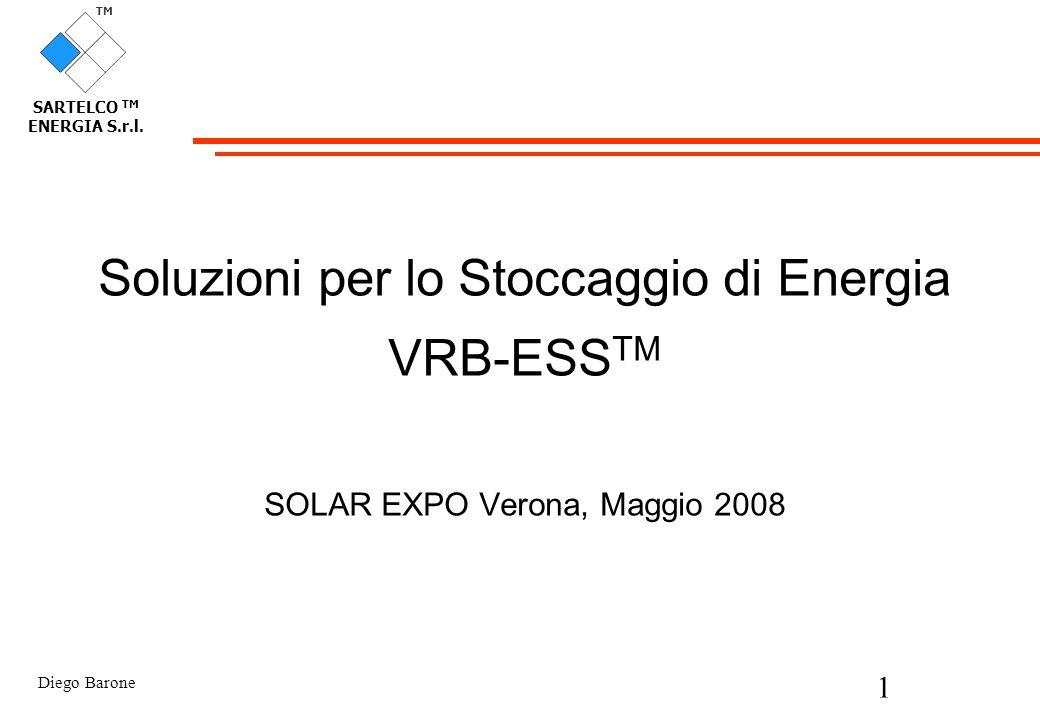 Soluzioni per lo Stoccaggio di Energia VRB-ESSTM