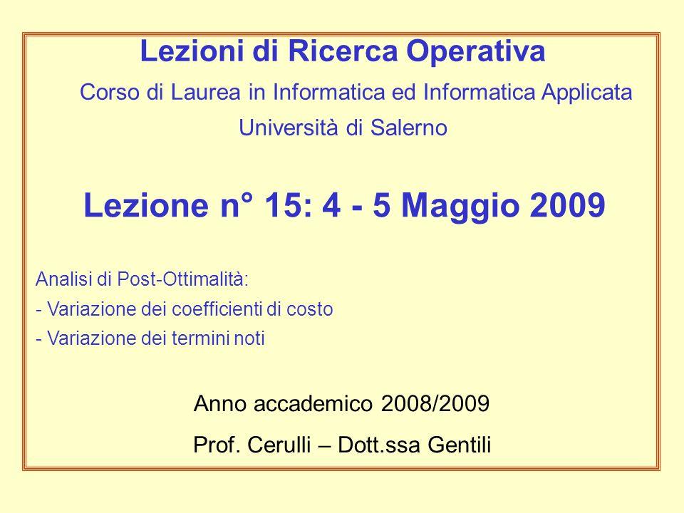 Prof. Cerulli – Dott.ssa Gentili
