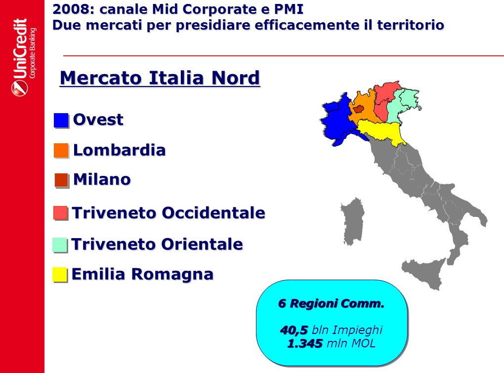Mercato Italia Nord Ovest Lombardia Milano Triveneto Occidentale