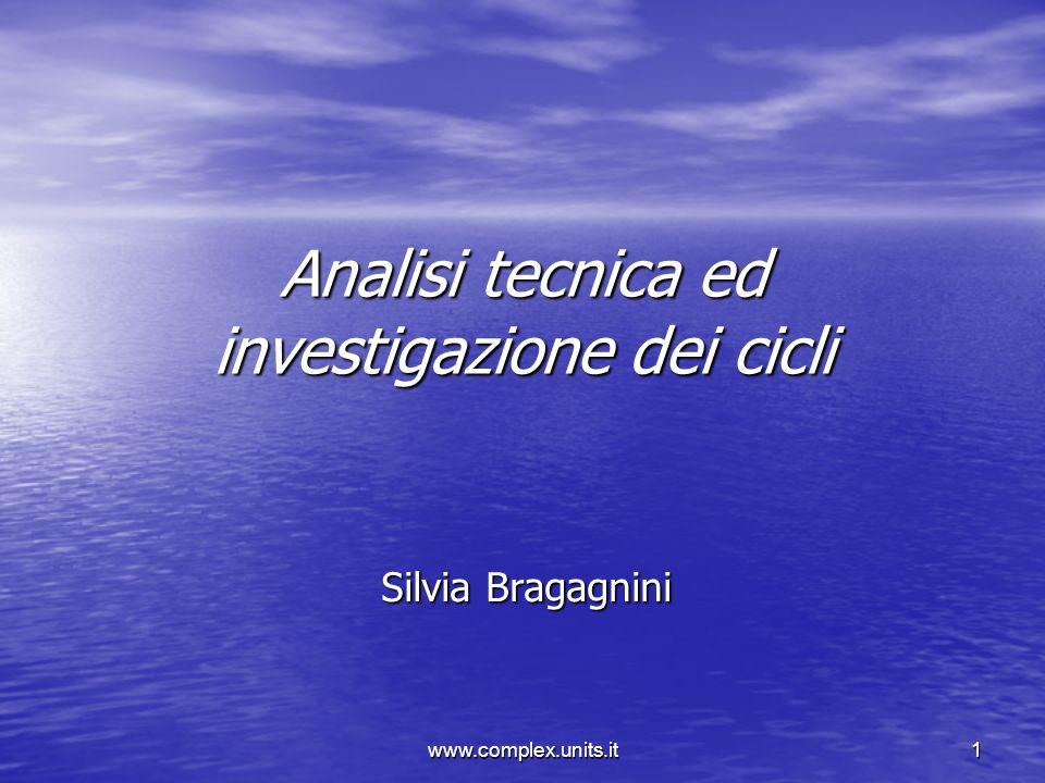 Analisi tecnica ed investigazione dei cicli
