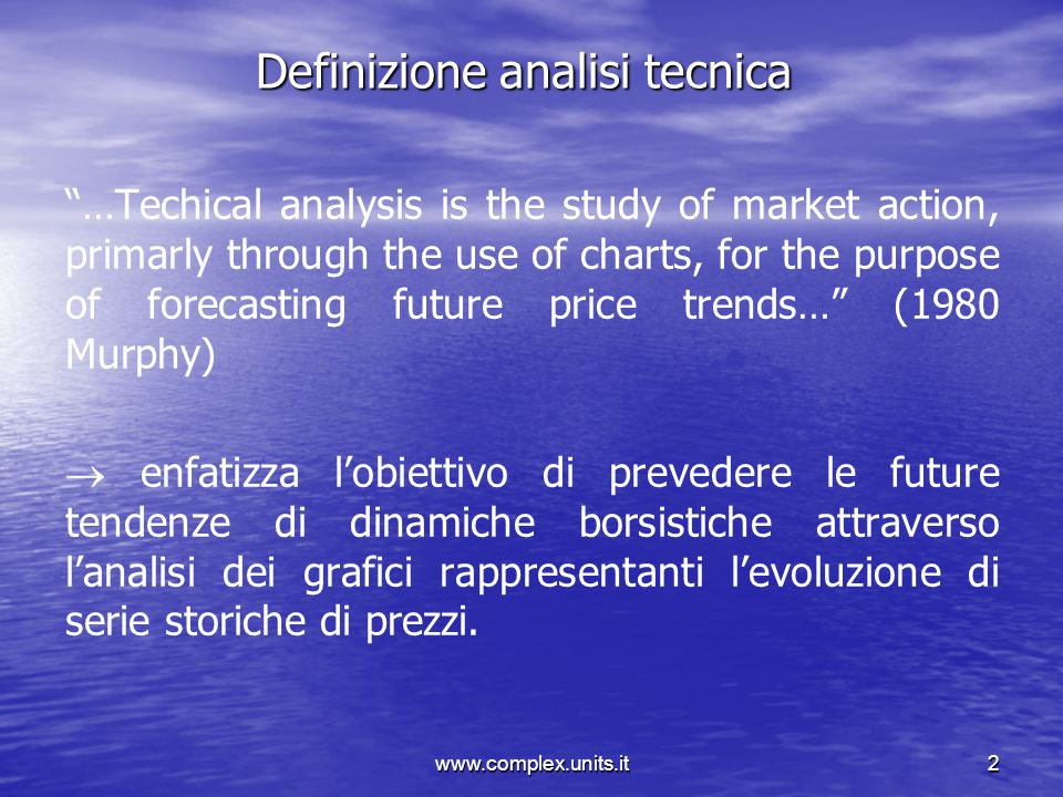Definizione analisi tecnica